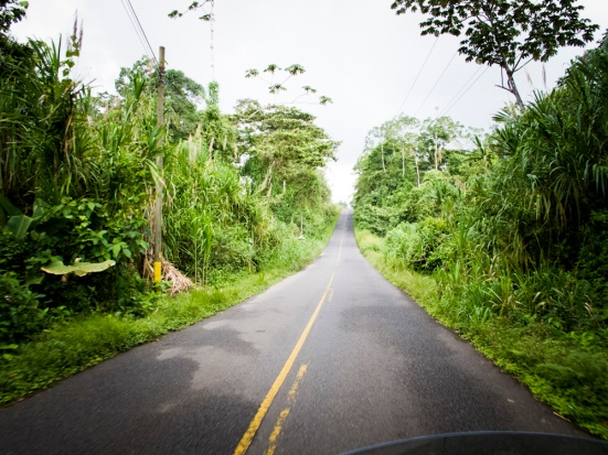 riding in the rain in costa rica