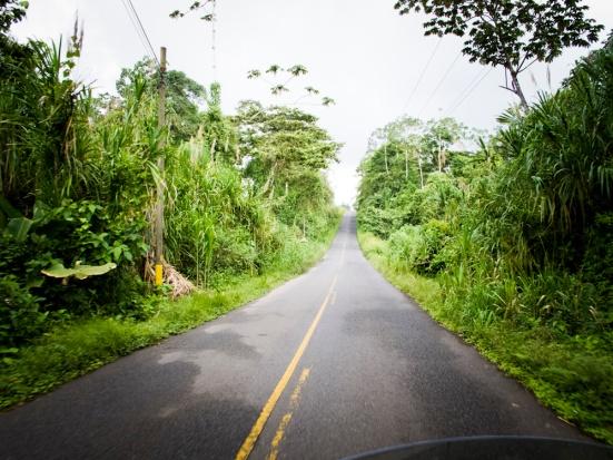 riding in the rain in costa rica